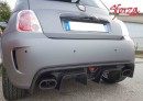Abarth 500 595 695 Carbon Rear Diffuser 595 Style