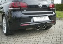 VW Golf R mk6 valve system with quad 100m tailpipes